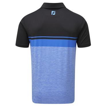 FootJoy Gents Lisle Colour Block Spacedye Polo Shirt Black - Cobalt