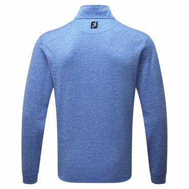 FootJoy Gents Heather Pinstripe Chill-Out ½ Zip Top Cobalt - White - Black