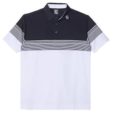 FootJoy Gents Stretch Lisle Gradient Shirt Navy - White