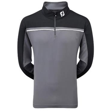 FootJoy Gents Chillout Pullover Charcoal - Black - White