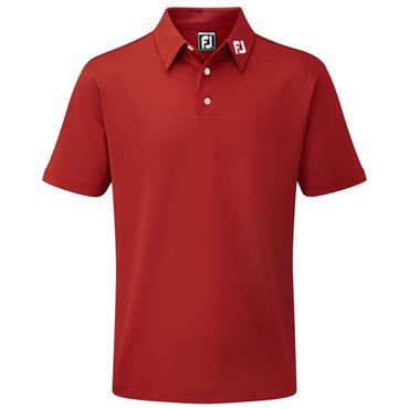 FootJoy Junior - Boys Solid Stretch Pique Polo Shirt Red