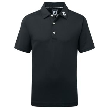FootJoy Junior - Boys Solid Stretch Pique Polo Shirt Black