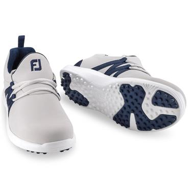 Footjoy Ladies Leisure Slip-On Shoes Wide Fit Grey - Navy