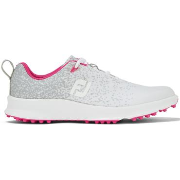 FootJoy FJ Leisure Shoe White - Silver - Fuchsia