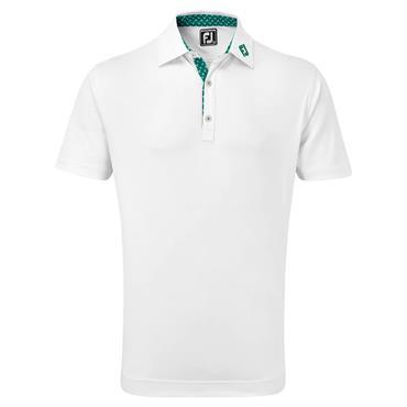 FootJoy Gents Palm Print Polo Shirt White