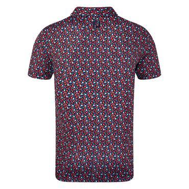 FootJoy Gents Lisle Flower Print Polo Shirt Navy