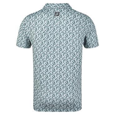 FootJoy Gents Lisle Flower Print Polo Shirt Heather Grey