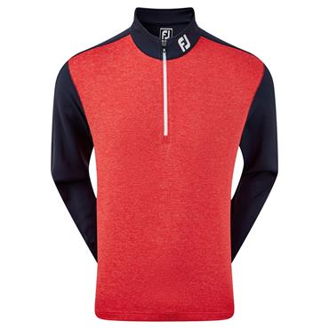 FootJoy Gents Heather Chillout Pullover Navy - Red
