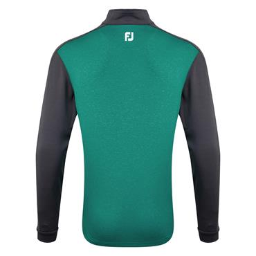 FootJoy Gents Heather Chillout Pullover Charcoal - Emerald