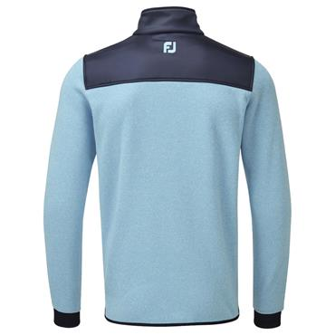 FootJoy Gents Chillout Xtreme Fleece Pullover Light Blue - Navy