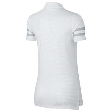 Nike Ladies Dri-Fit Printed Polo Shirt White