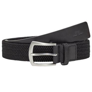 J.Lindeberg Caspian Elastic Braid Belt Black