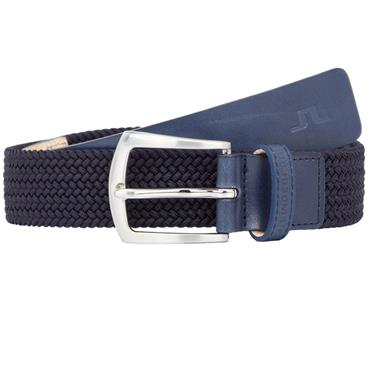 J.Lindeberg Caspian Elastic Braid Belt Navy