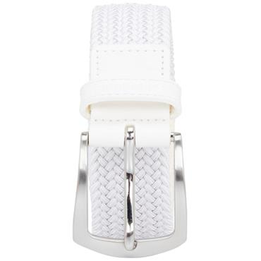 J.Lindeberg Caspian Elastic Braid Belt White