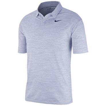 Nike Gents Dri Fit Stripe Polo Shirt White