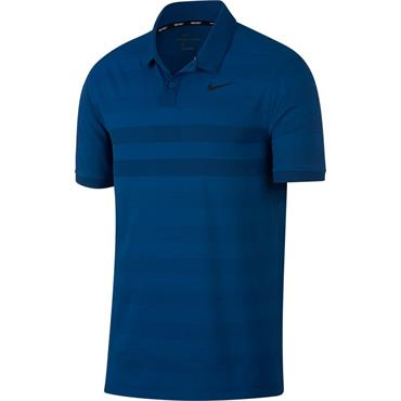 Nike Gents Zonal Cooling Stripe Polo Shirt Blue