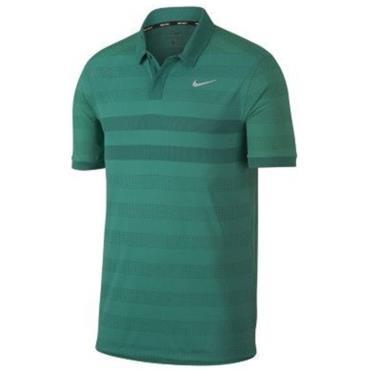 Nike Gents Zonal Cooling Stripe Polo Shirt Green