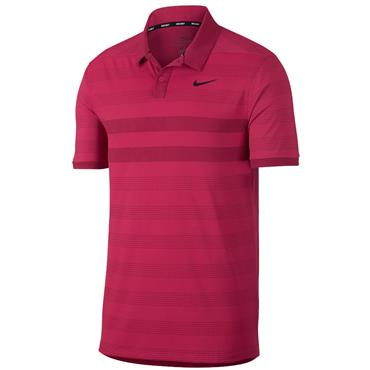 Nike Gents Zonal Cooling Stripe Polo Shirt Pink
