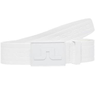 J.Lindeberg Gents Logo Belt Leather White