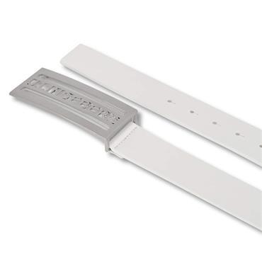 J.Lindeberg Gents Dane Leather Belt White