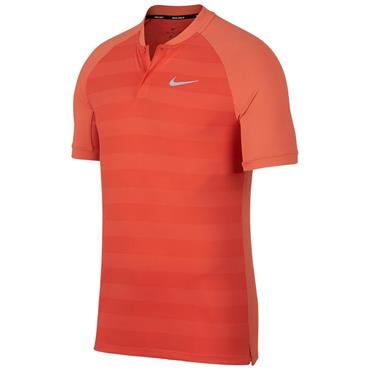 Nike Gents Zonal Cooling Stripe Momentum Polo Shirt Coral