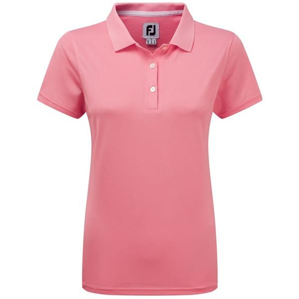 205c1691 FootJoy Ladies Stretch Pique Solid Polo Shirt Pink | Golf Store
