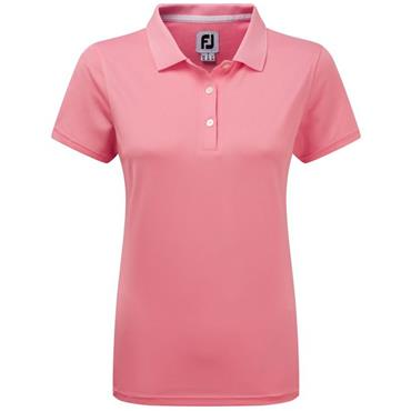 FootJoy Ladies Stretch Pique Solid Polo Shirt Pink
