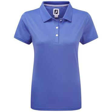 FootJoy Ladies Stretch Pique Solid Polo Shirt Periwinkle