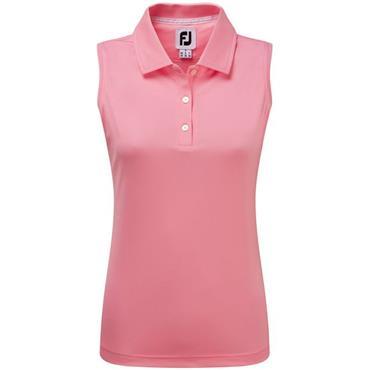 FootJoy Ladies Interlock Sleeveless Solid Polo Shirt Pink
