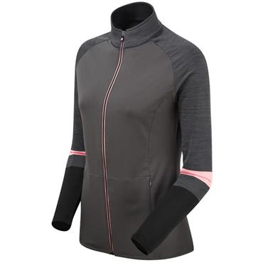 FootJoy Ladies Full Zip Terry Chill-Out Pullover Charcoal