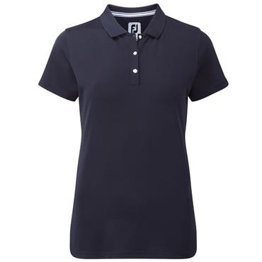 FootJoy Ladies Stretch Pique Solid Polo Shirt Navy