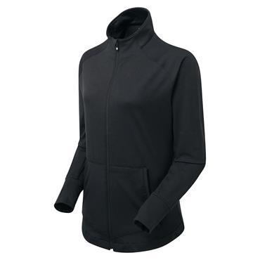 FootJoy Ladies Full Zip Brushed ChillOut Black