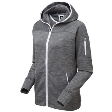 FootJoy Ladies Full Zip Fleece Hoodie Charcoal