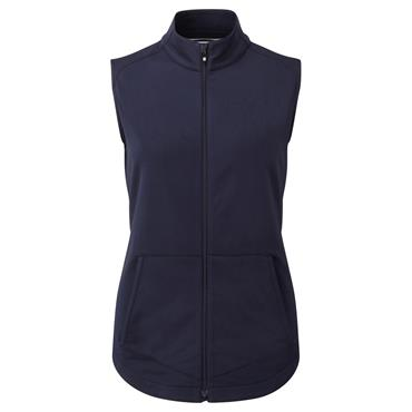 FootJoy Ladies Full Zip Brushed ChillOut Vest Navy