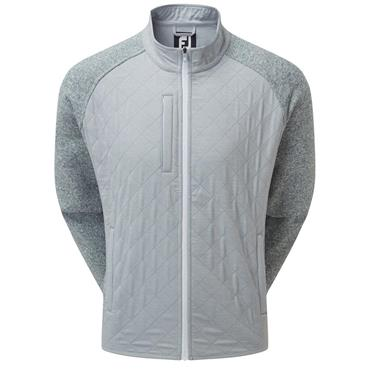 FootJoy Gents Fleece Quilted Jacket Heather Grey