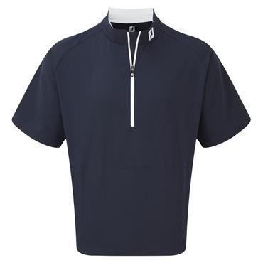 FootJoy Gents Perf Half Zip Windshirt Navy - White