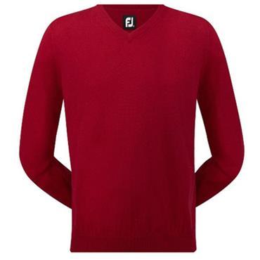 FootJoy Gents Merino V-Neck Sweater Red