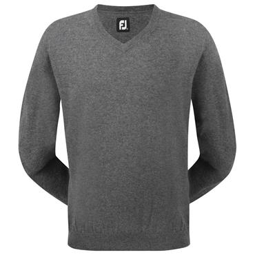 FootJoy Gents Lambswool V-Neck Sweater Charcoal