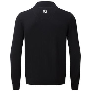 FootJoy Gents Lambswool ½ Zip Top Black