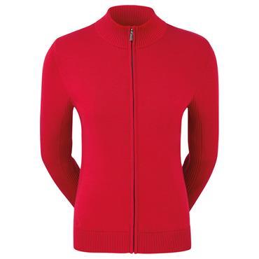 FootJoy Ladies Full Zip Lined Pullover Red