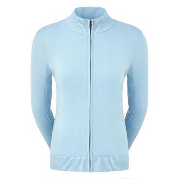 FootJoy Ladies Full Zip Lined Pullover Sky Blue