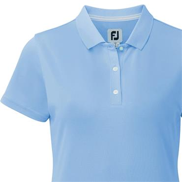 FootJoy Ladies Solid Stretch Pique Polo Shirt Light Blue
