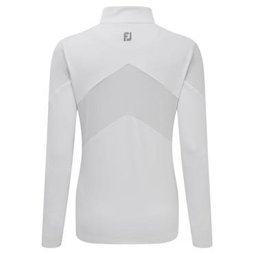 FootJoy Ladies Engineered Jersey 1/2 Zip Top White