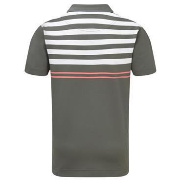 FootJoy Junior Pique Engineered Stripes Top Green - White