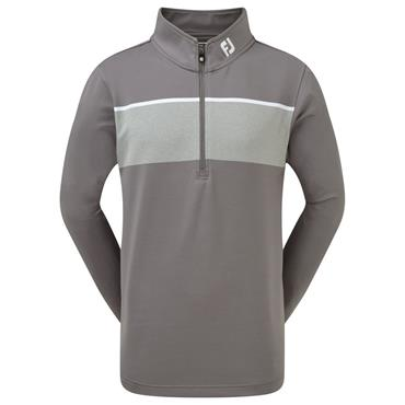 FootJoy Junior Boys Chill-Out Pullover Granite