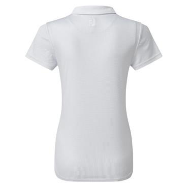 FootJoy Ladies Cap Sleeve Dot Print Shirt White