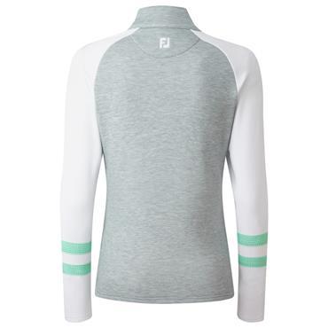 FootJoy Ladies Full Zip Mid-Layer Grey - White - Jade