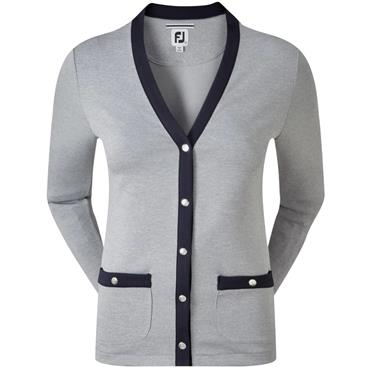 FootJoy W Jersey Fleece Cardigan Heather - Navy