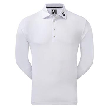 FootJoy Gents Long Sleeve Thermocool Self Collar Top White
