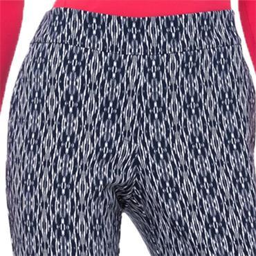 EPNY Ladies Bicolor Ikat Print Slim Pants Inky Multi